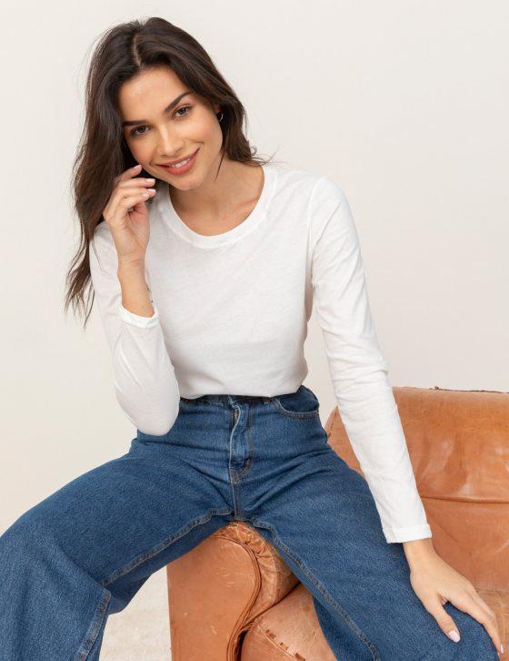 Μακρυμάνικη βαμβακερή μπλούζα