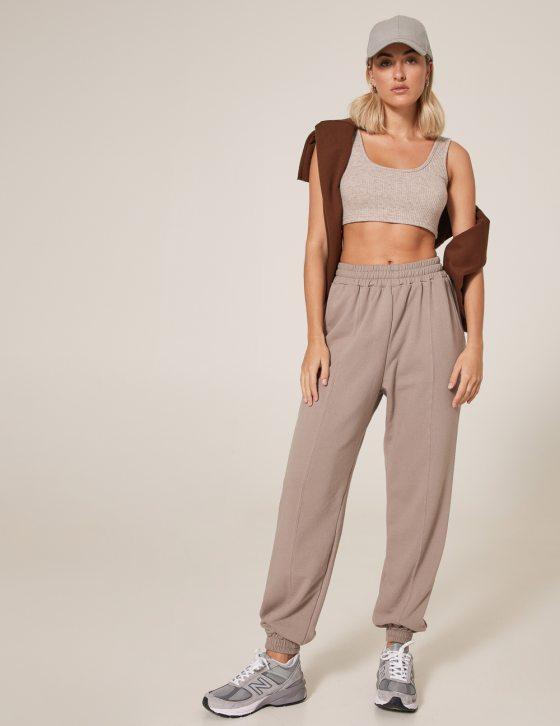 Γυναικείο παντελόνι φούτερ με λάστιχο στη μέση